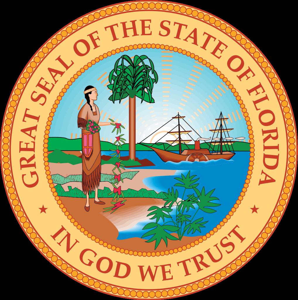 File stateseal svg wikimedia. Florida clipart flag florida