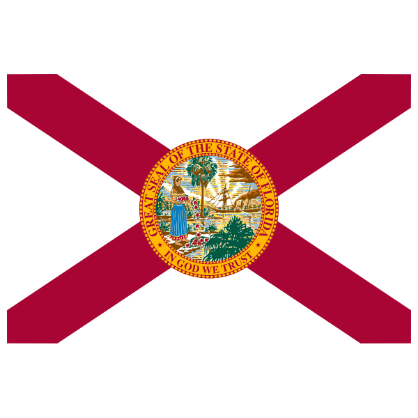 Iron on embroidered by. Florida clipart flag florida