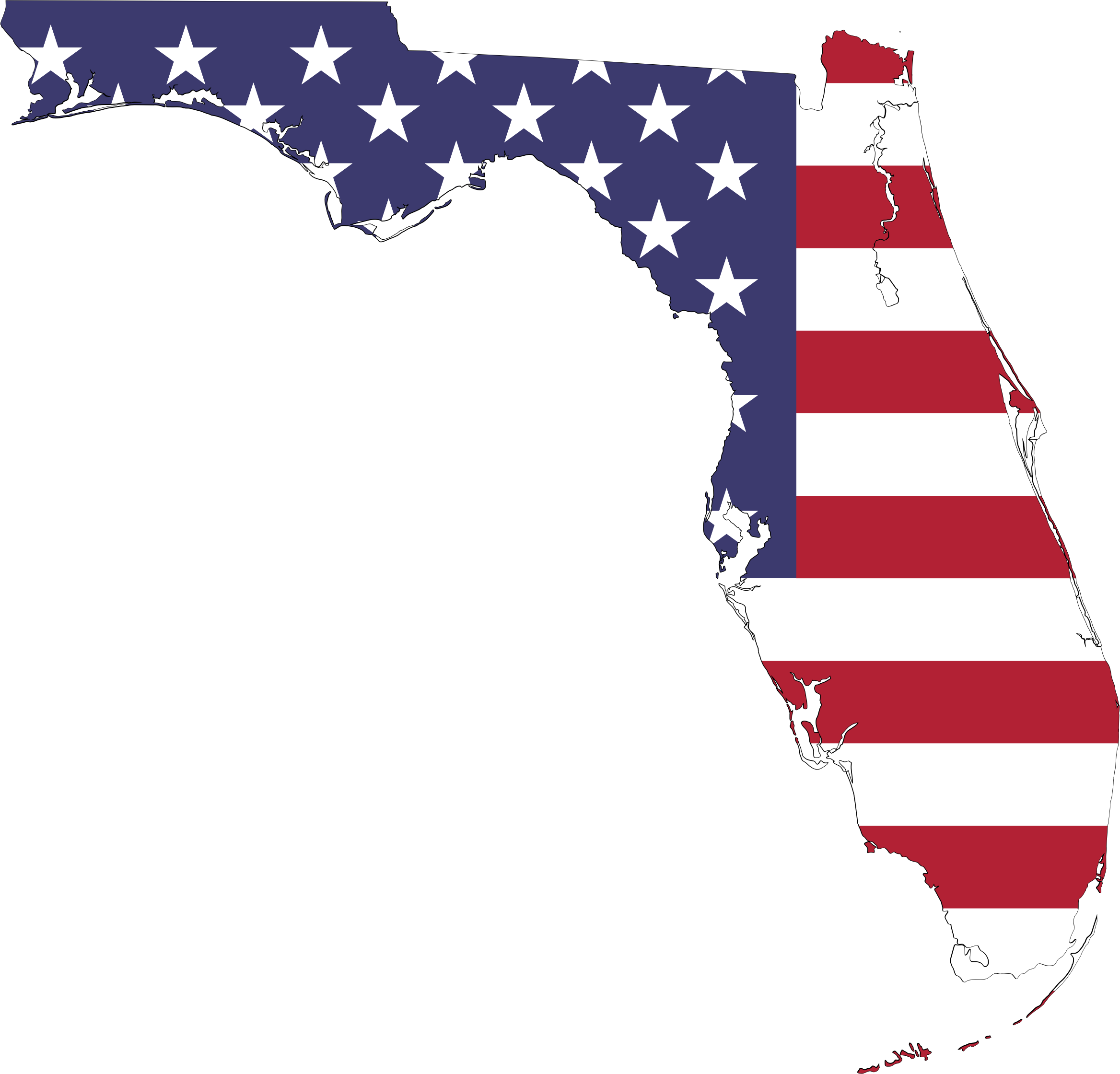 America flag map with. Florida clipart icon