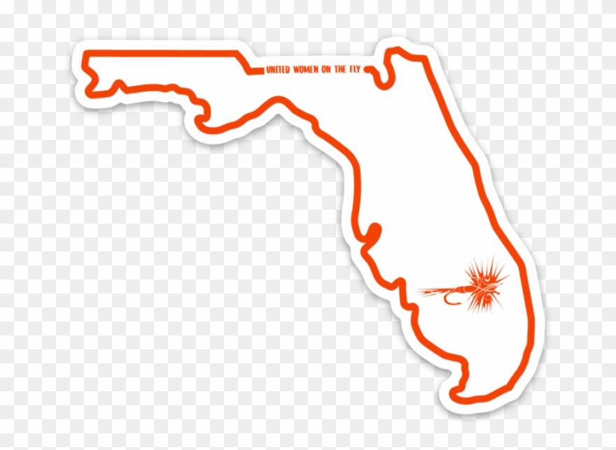 Florida clipart illustration. Uwotf state sticker