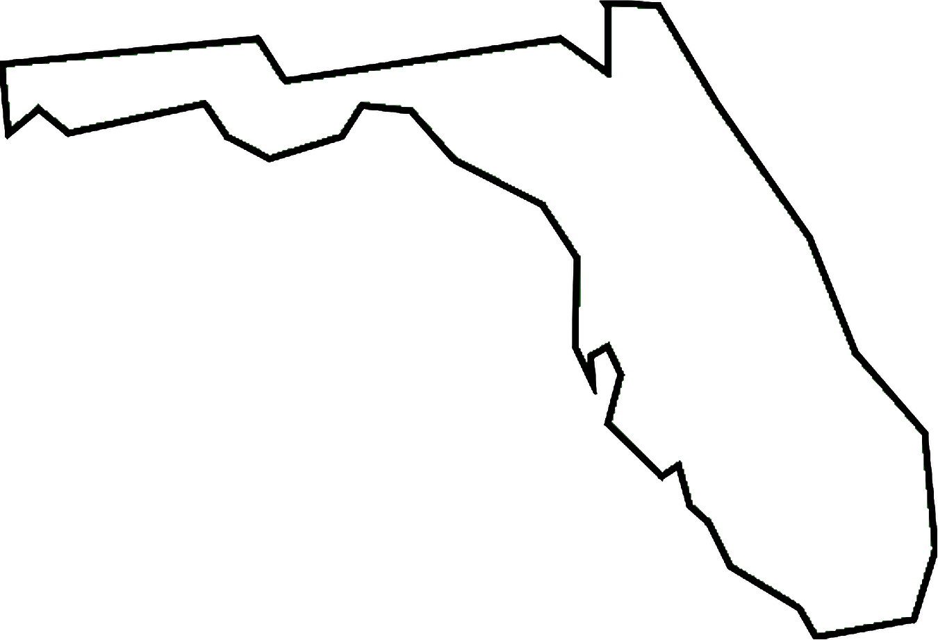 Free map cliparts download. Florida clipart line