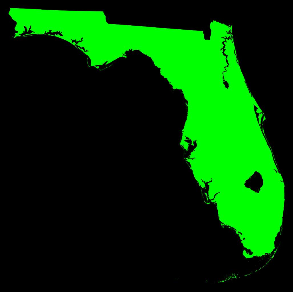 Florida clipart map miami florida. File flmap outline green