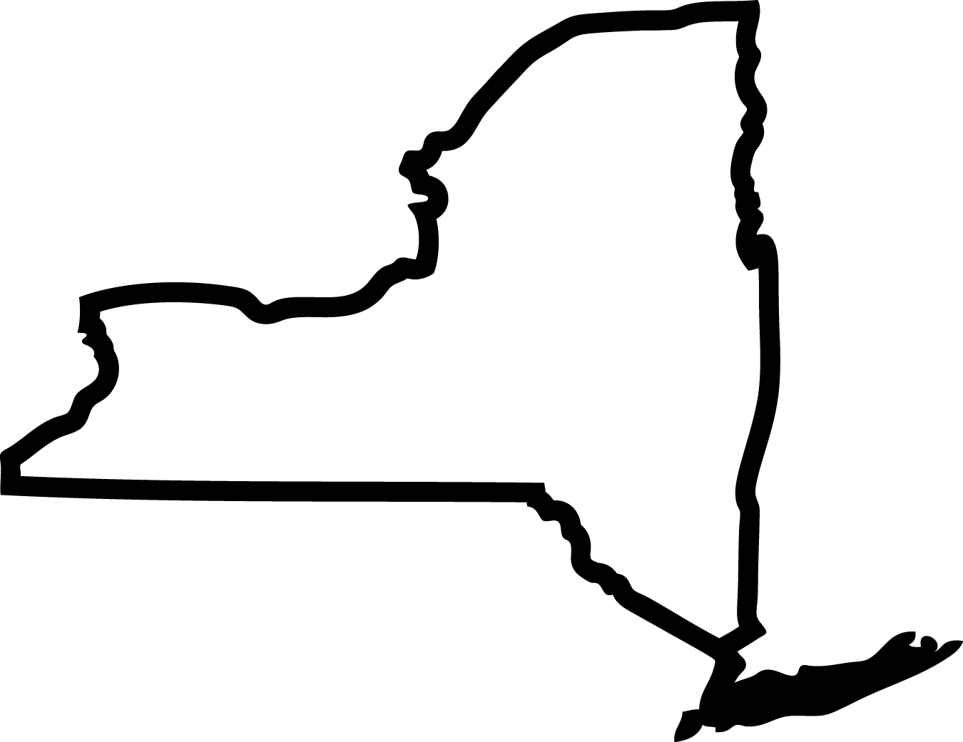 Upper new york state. Florida clipart outline