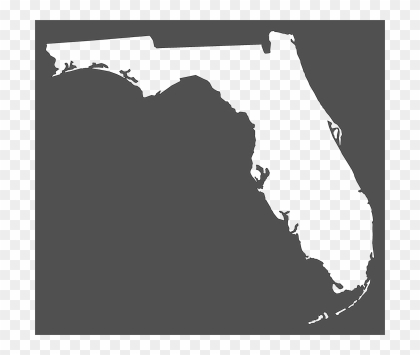 Florida clipart plain. A frame map of