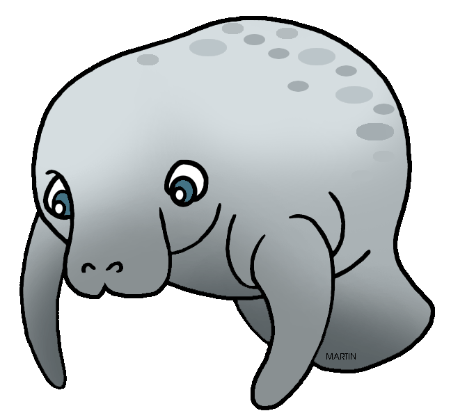 United states clip art. Manatee clipart dugong