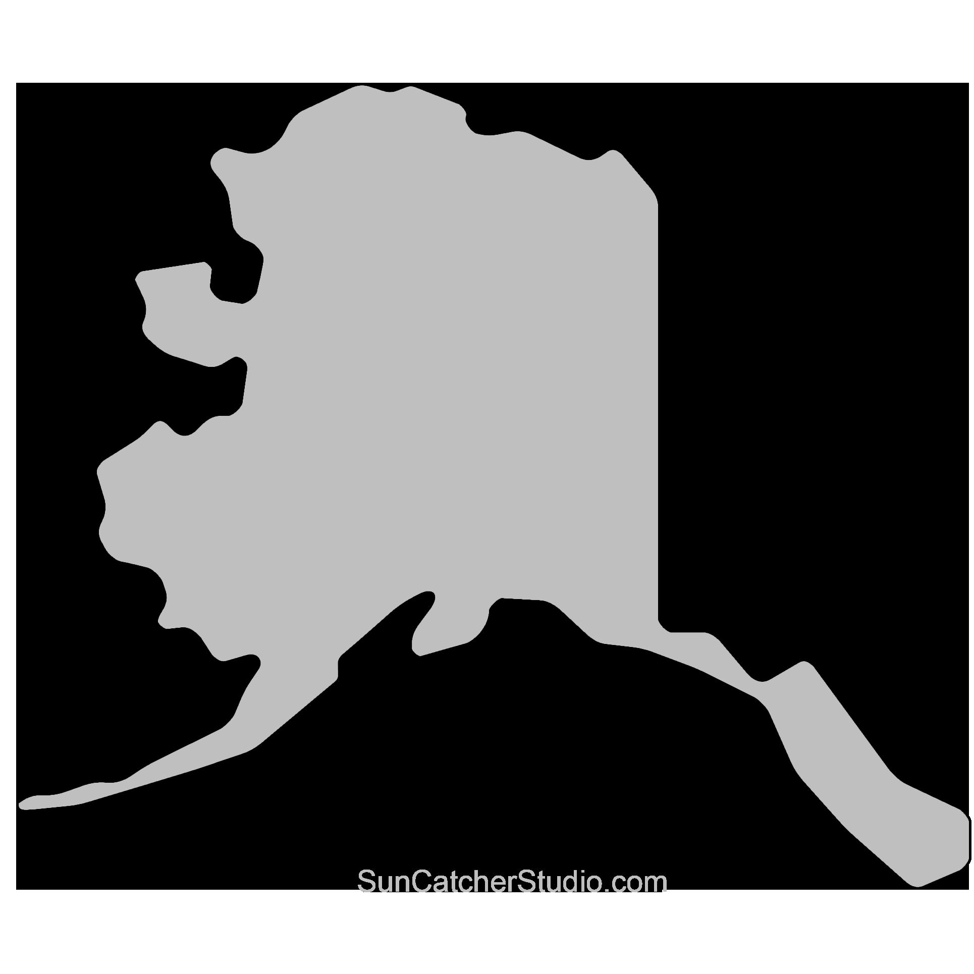 State outlines maps stencils. Alaska clipart shape