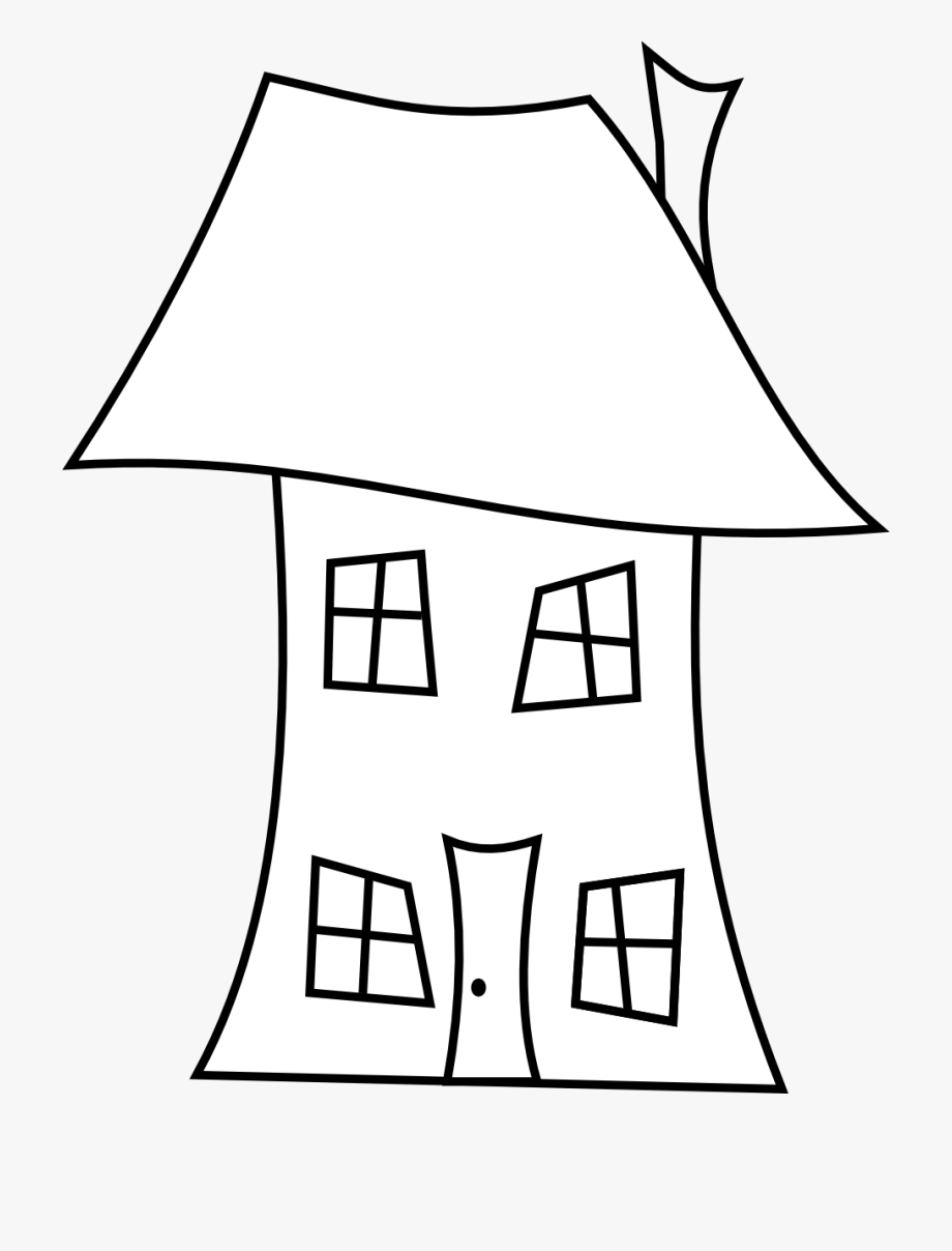 Florida clipart template. Empty house outline drawing