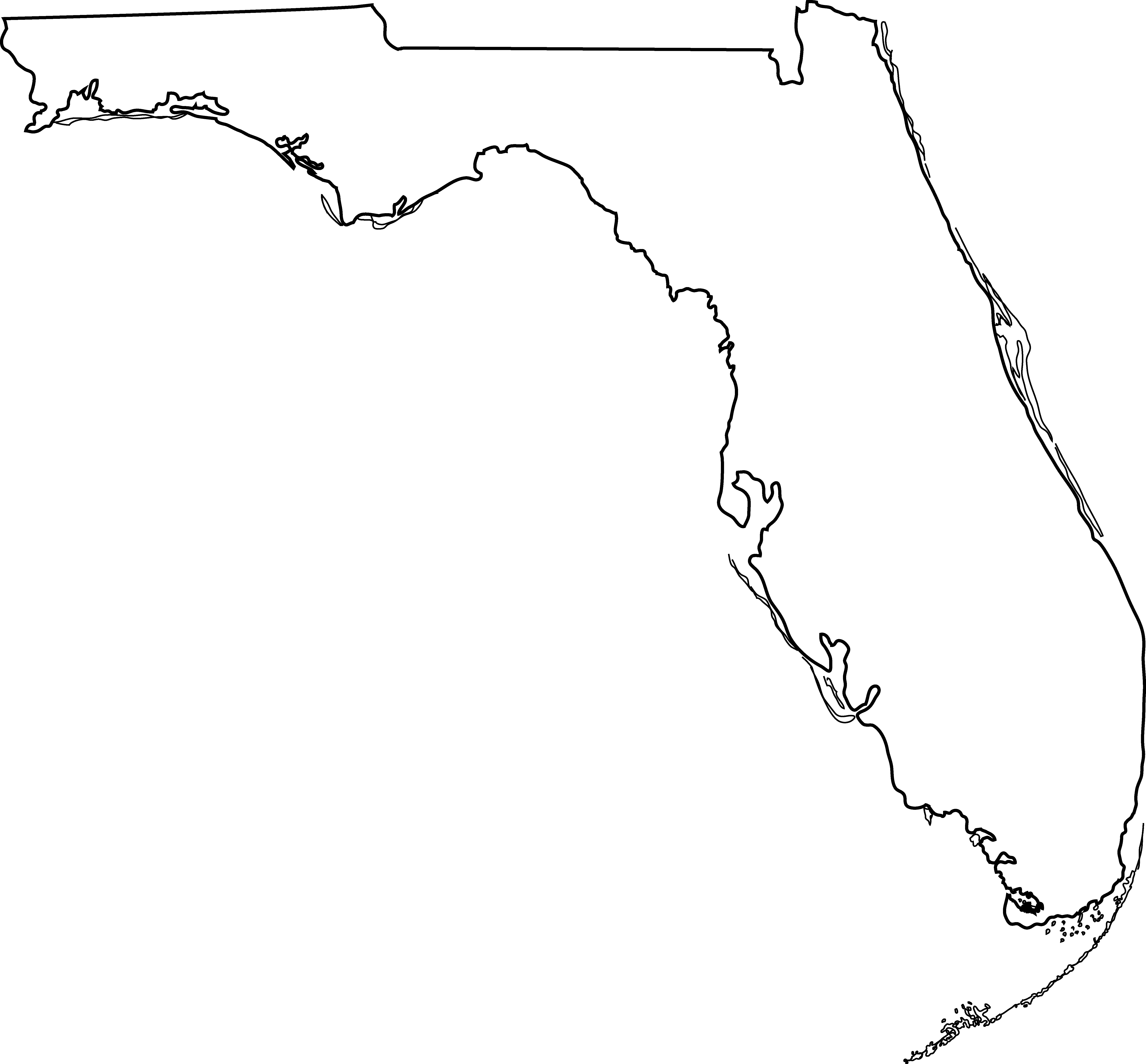 United states clipart map. Fl image group florida