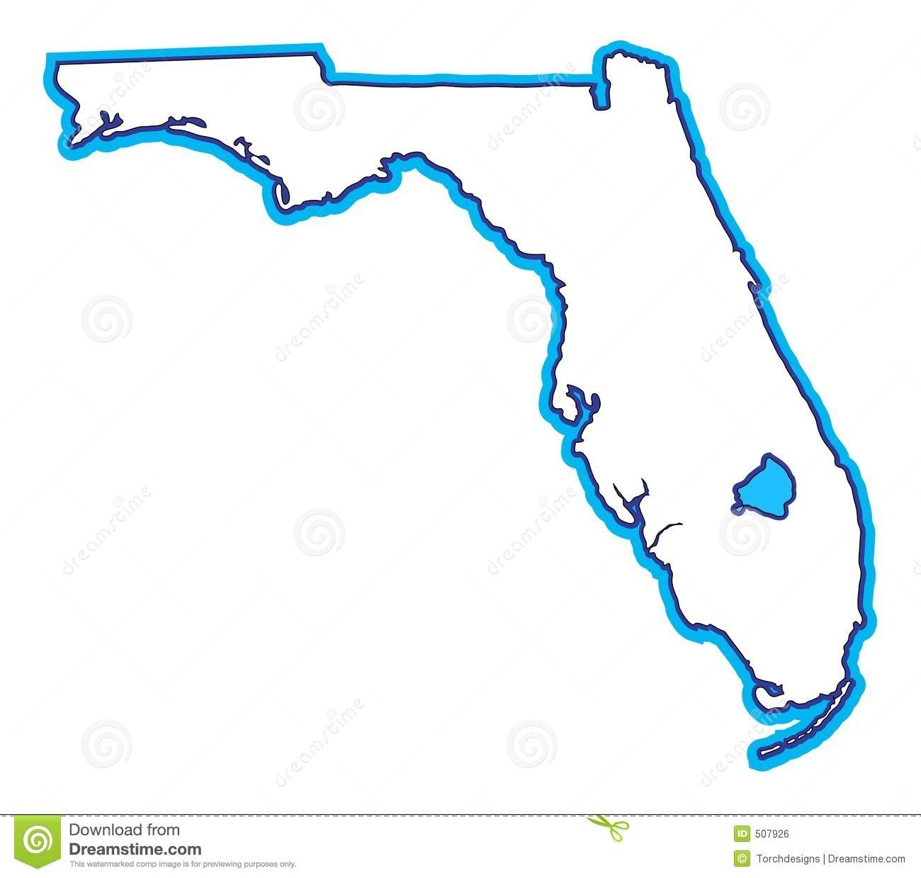 Florida clipart vector. Sillouette map clip art