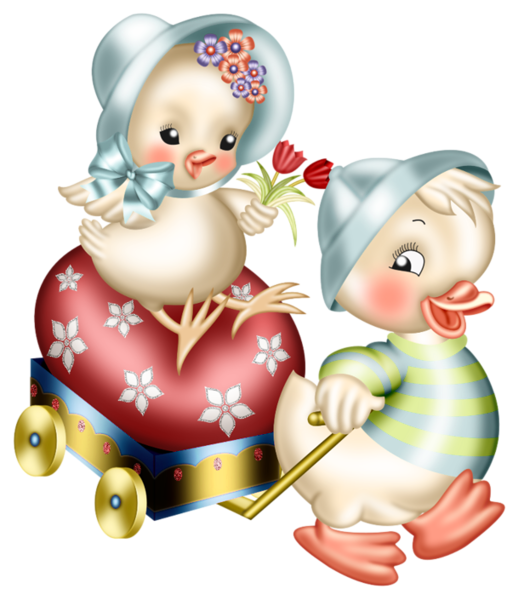 Easter chickens decoration png. Florida clipart vintage