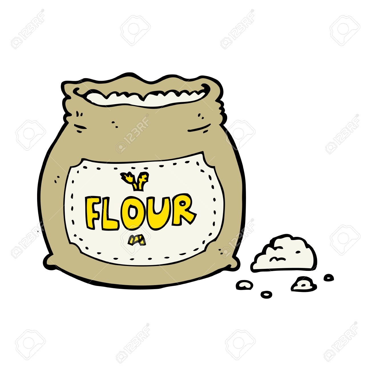 New design digital collection. Flour clipart