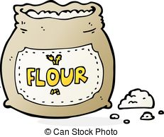 Flour clipart. Pencil and in color