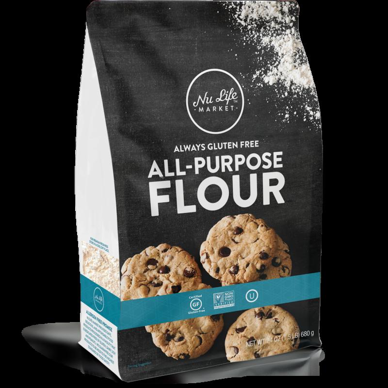 Gluten free nu life. Flour clipart all purpose flour