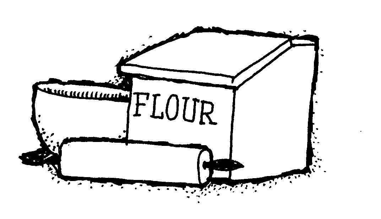 Flour clipart all purpose flour. Free black and white