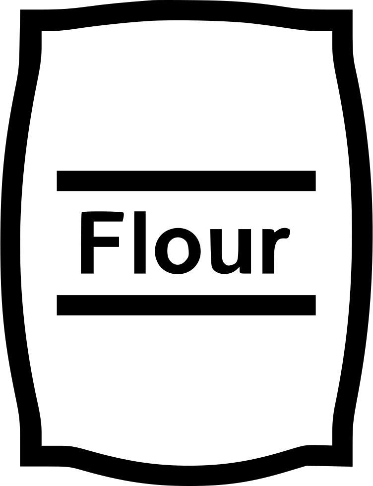 Flour clipart all purpose flour. Bag svg png icon