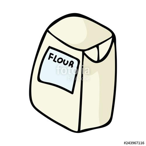 Kawaii kitchen for hand. Flour clipart baking flour