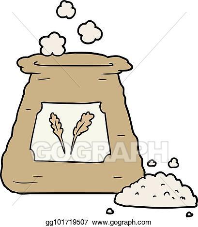 Vector cartoon bag of. Flour clipart cake flour