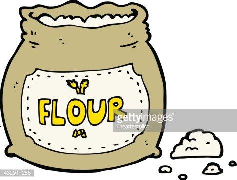 Bag of premium clipartlogo. Flour clipart cartoon