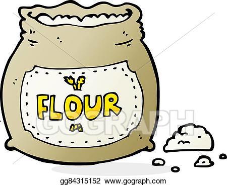 Vector bag of illustration. Flour clipart cartoon