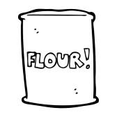 Flour clipart coloring. Cartoon bag of clip