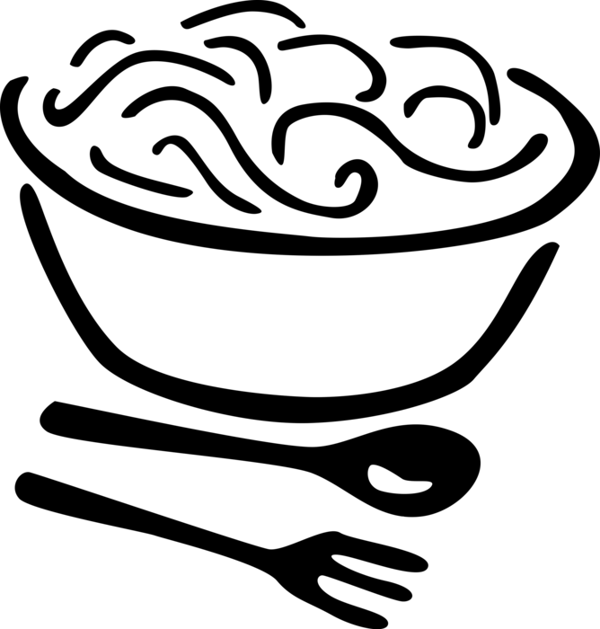 Italian pasta vector image. Flour clipart egg