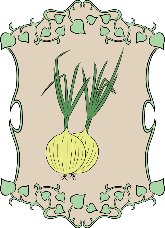 Garden sign recipes vegetables. Onion clipart onion leaves