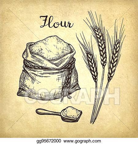 flour clipart flour scoop