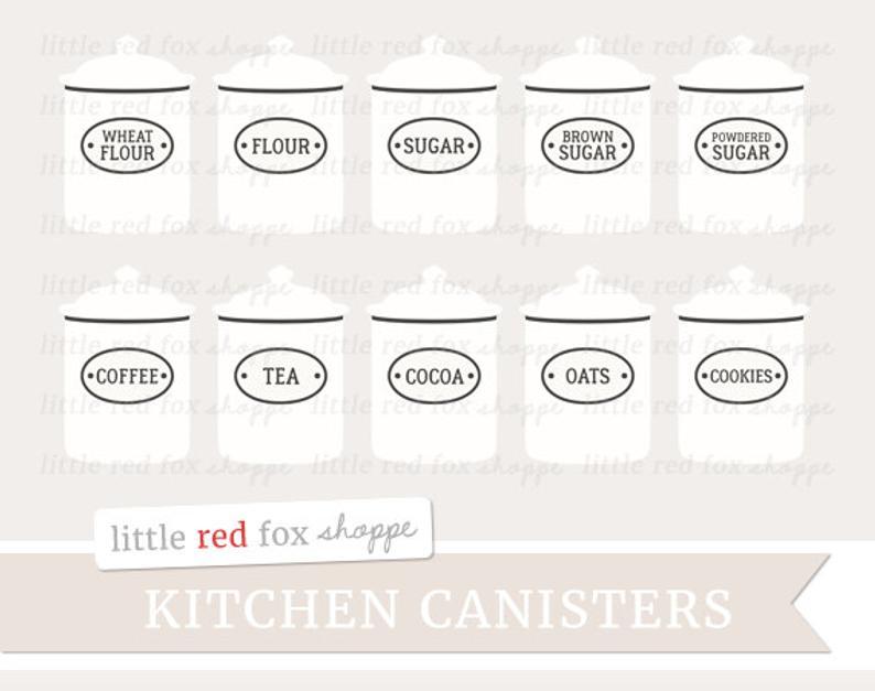 Canister kitchen clip art. Flour clipart flour sugar