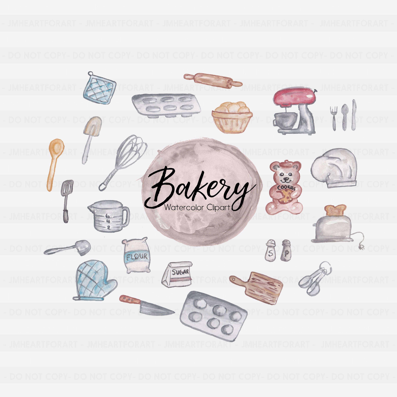 Bakery sweets baking . Flour clipart flour sugar