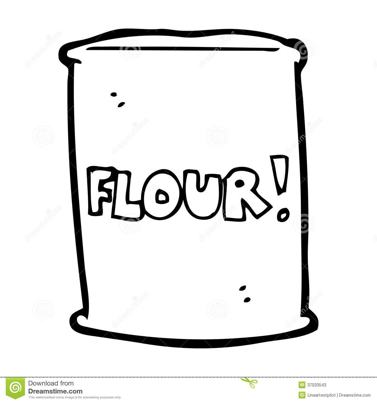 clipartlook. Flour clipart outline