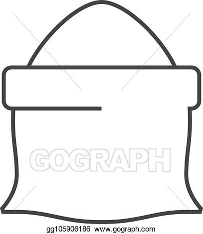 Eps illustration icon sack. Flour clipart outline