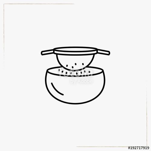 Sift line icon stock. Flour clipart sieve flour