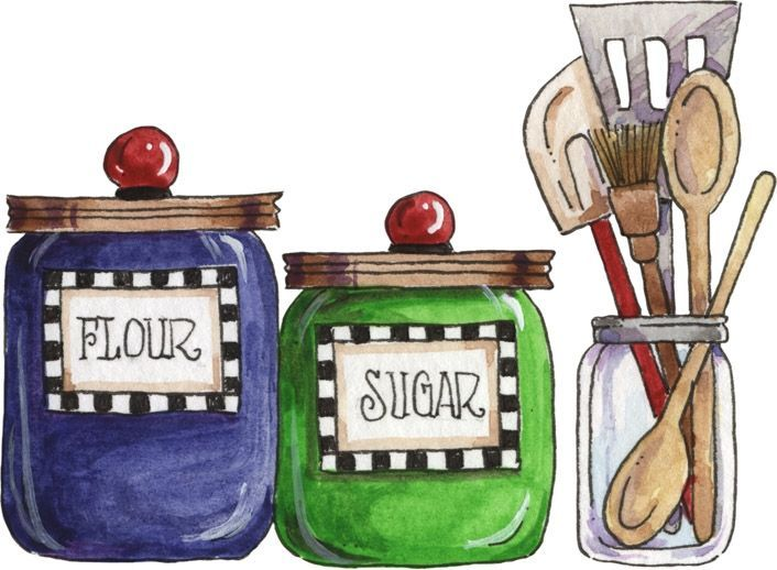 Flour clipart suagr. Kitchen baking illustration sugar