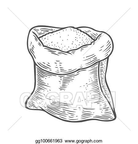 Vector art sack with. Flour clipart suagr