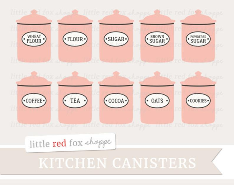 Flour clipart suagr. Canister kitchen clip art