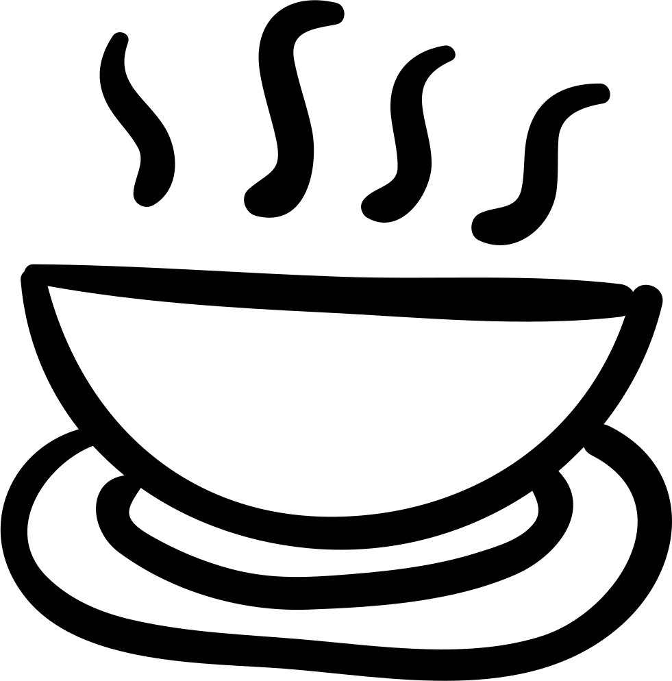 Hot food bowl svg. Soup clipart hand drawn