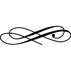 Line free vector swash. Flourish clipart