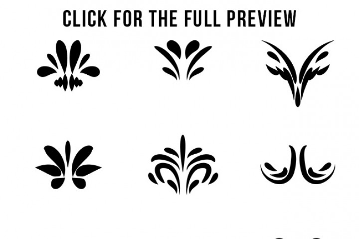 Decorative corner elements text. Flourish clipart