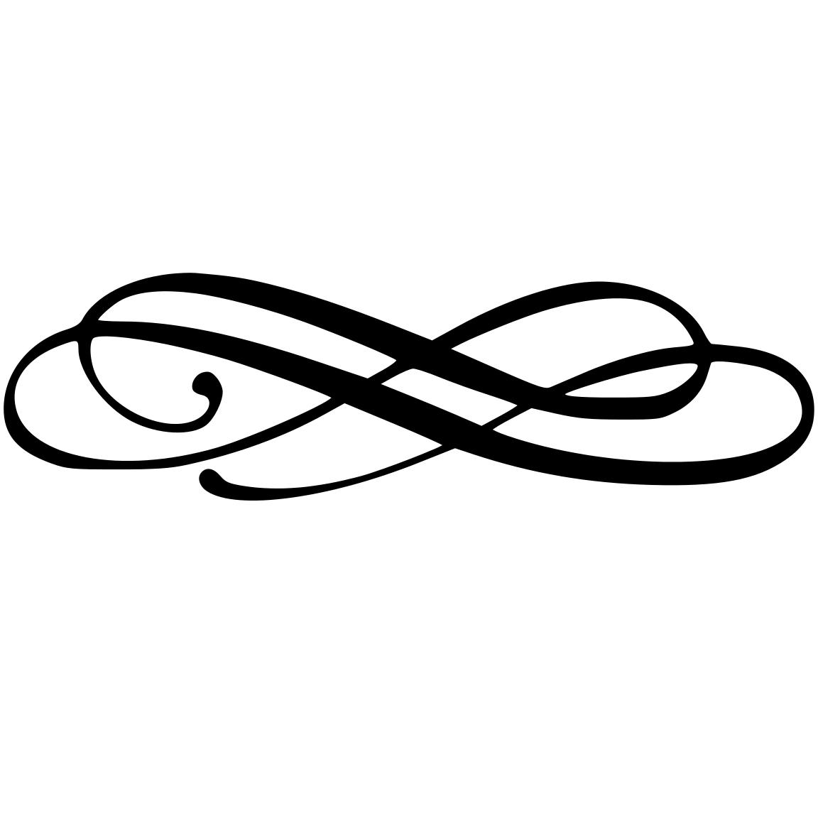 Free simple flourish cliparts. Flourishes clipart logo