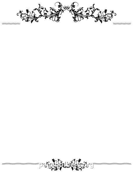 Clip art page and. Flourish clipart border