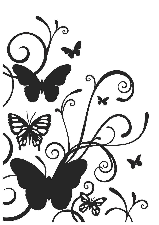 Pin on flowers tree. Flourish clipart butterfly