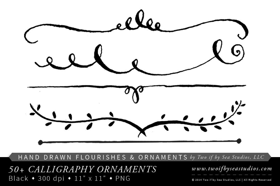 Free simple flourish cliparts. Flourishes clipart calligraphy