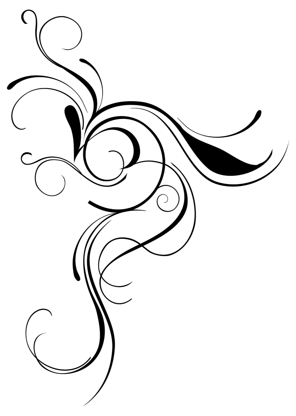 Flourish clipart curly cue, Flourish curly cue Transparent FREE for download on ...