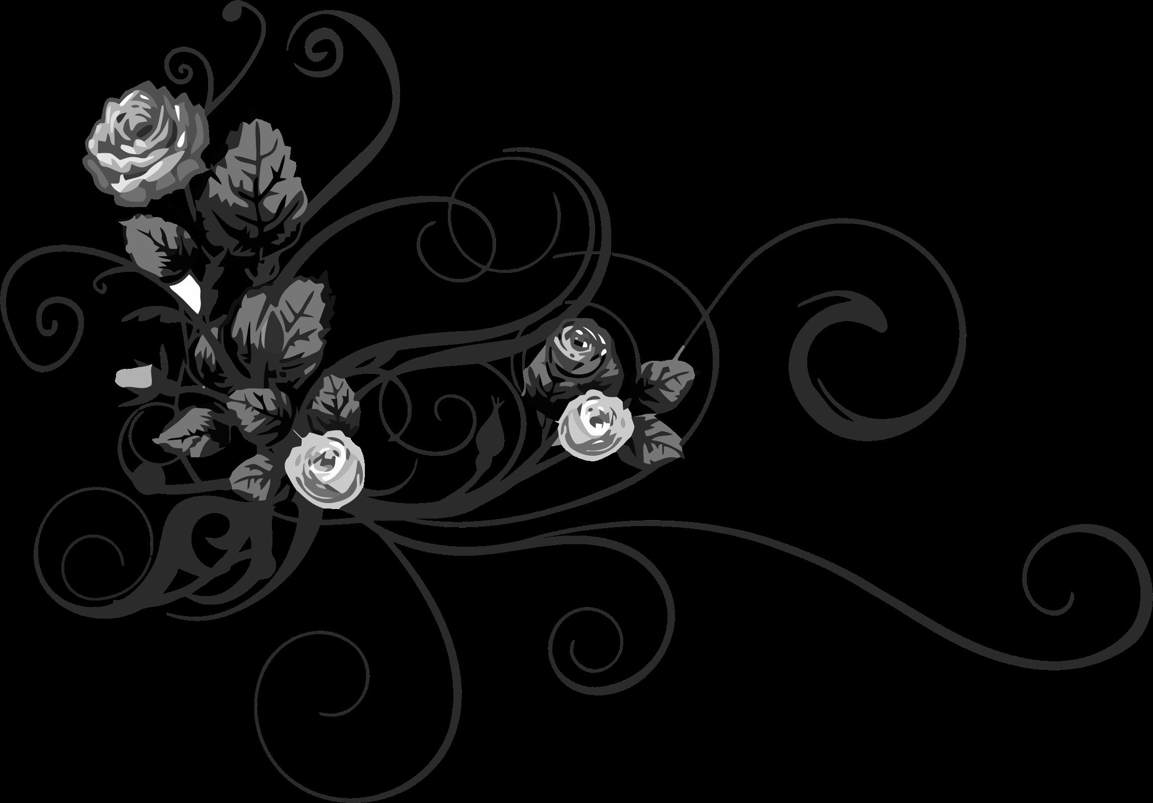 Flourish clipart drawing. Rose floral big image
