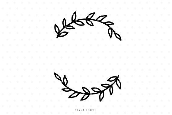 Leaves svg wreath cut. Flourish clipart file