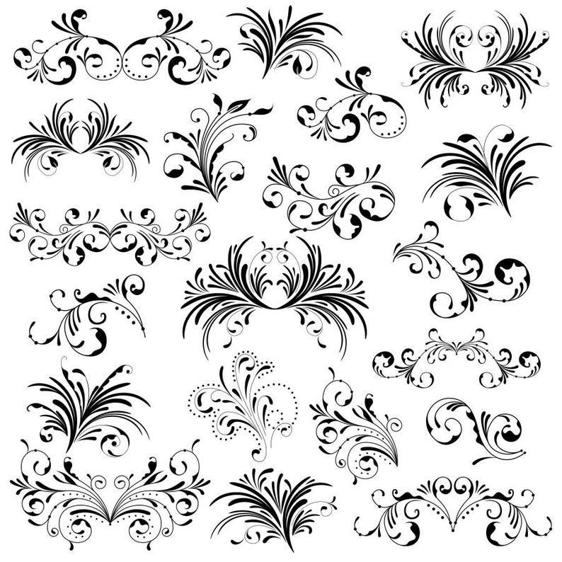 Flourish clipart florish. Png decorative swirl flourishes
