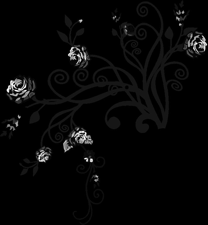 Rose floral medium image. Flourish clipart flower