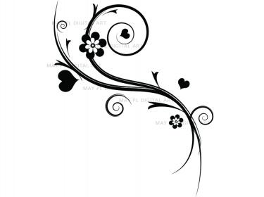 Flourish clipart flower. Decorations flowers clip art
