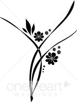 Wedding . Flourish clipart flower