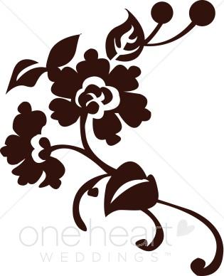 Clip art . Flourish clipart flower